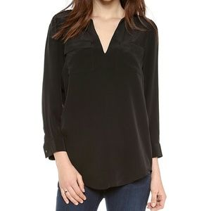 Joie Marlo Black Silk Top L