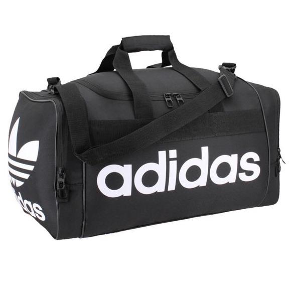 995ec6c943 Adidas Originals Black duffel bag Santiago trefoil