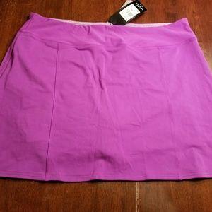 Adidas purple golf skirt