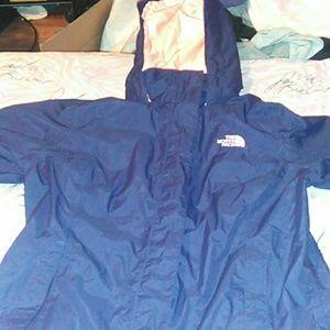 Blue & Pink North Face Rain Coat