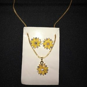 NWOT necklace and earring set