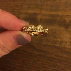 kate spade Size 5 Scalloped Ring