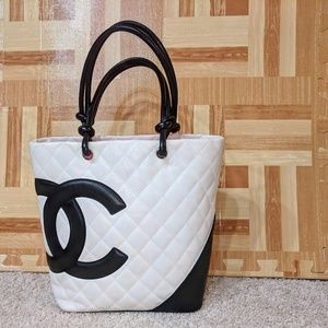 Chanel Cambon Quilted Leather Lambskin Tote