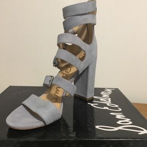 Sam Edelman 8.5 dusty blue strap heels NIB