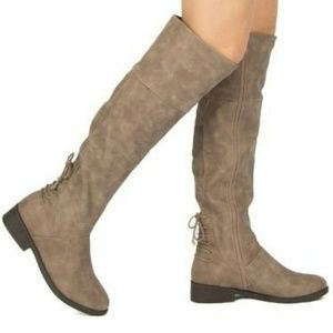 Shoes - TAUPE KNEE HIGH BOOT
