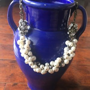 J Crew pearl and rhinestone necklace