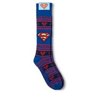 SUPERMAN NEW Mens Novelty Knee Socks Extra Long OS