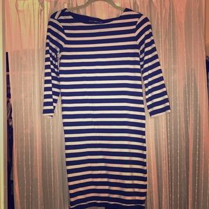 Gap blue & white striped dress