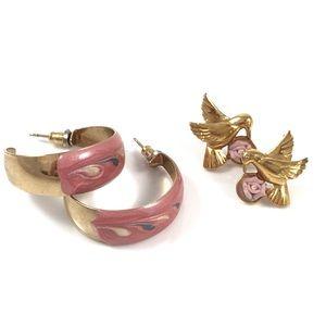 Vintage set of 1970s earrings