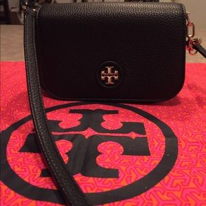 Tory Burch Black Pebbled Leather CrossBody Bag