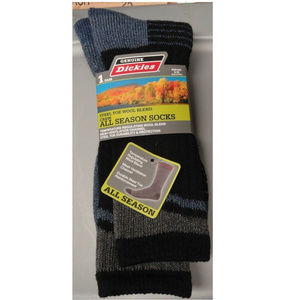 DICKIES Mens 6-12 Steel Toe 1 pair Crew Socks New
