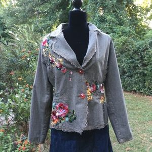 tweed embroidered jacket