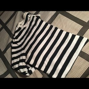 Black and white Stripped long sleeve top