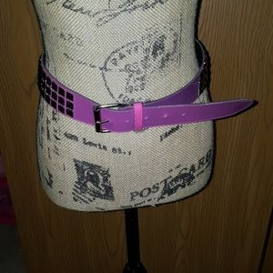 Pink studded belt. Plus size. Approx 49 inches