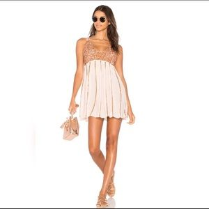 Free People sequin dress M: rose gold/neutral/pink