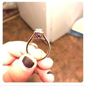 Jewelry - Sterling silver ring with rose gold plate