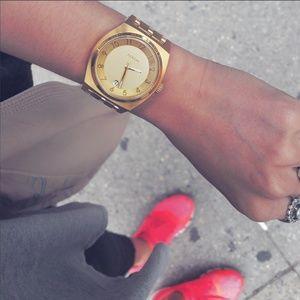 nixon large gold watch