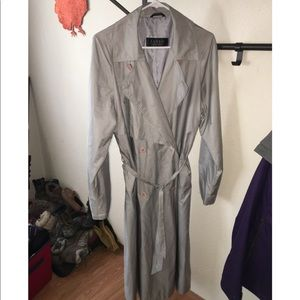 Silver trench coat