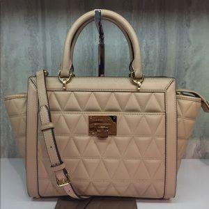 Luxury Michael Kors Vivianne Beige Handbag
