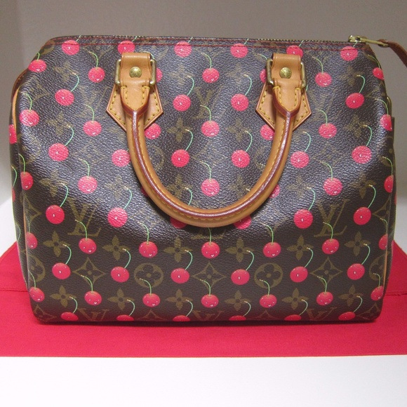 c4611d5e72f1b3 Louis Vuitton Handbags - Auth Louis Vuitton Speedy 25 Cerises Cherry Bag