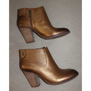 NEW Lucky Brand Booties GOLD BRONZE Ankle Boots 5
