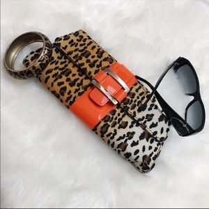 Leopard Print Clutch and Bracelet