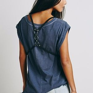 Free People Surrey Harness Vest Black