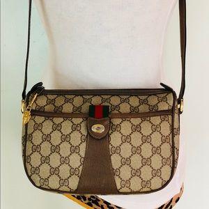 Authentic Gucci Monogram Crossbody Bag