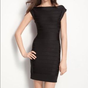 French Connection Black bandage dress, size 6
