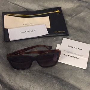 Balenciaga Sunglasses Tortoise Brown Black