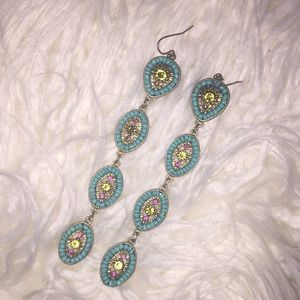 Lily Pulitzer Beaded Earrings.