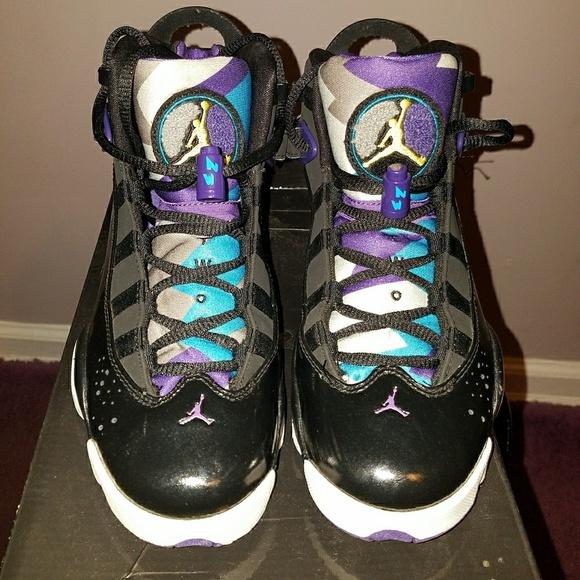 3705707af7f Jordan Shoes | 6 Rings Black Purple Blue | Poshmark