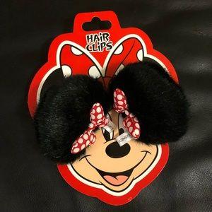 DISNEY Minnie Mouse HAIR CLIPS