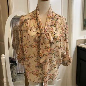 Anthropologie lace silk boho gypsy top blouse xs s