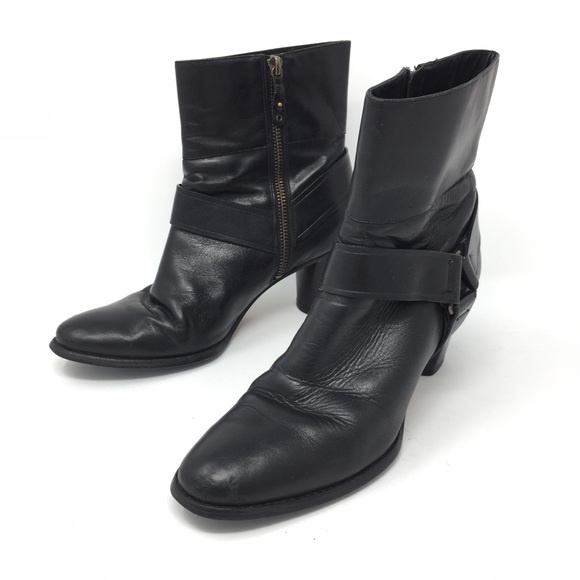 e10b09b5301cf Cole Haan Shoes | Ankle Boot Harness Blk Leather Sz 7 | Poshmark