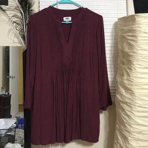 Old navy burgundy long sleeve winter dress