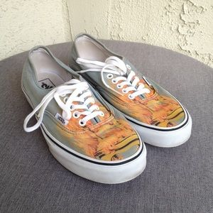 Vans Men's Gray Burning Flames Chair Lace Up Shoes