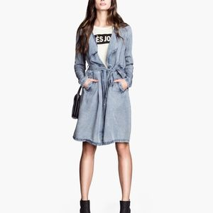 Chambray Trench Duster Coat