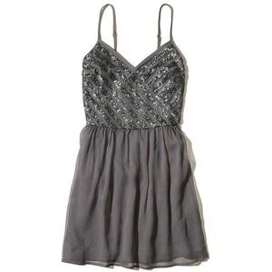 Hollister shine skater dress in grey. NWT