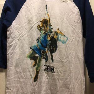 The legend of Zelda mid way graphic tee