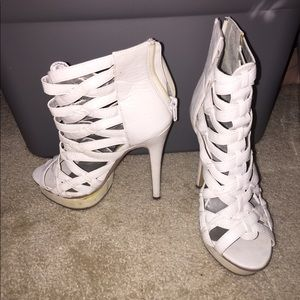 Shoes - Strap front heels