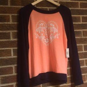 Elephant in heart sweatshirt