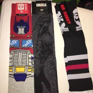 Godzilla, Mr Robot and Transformers sock bundle!