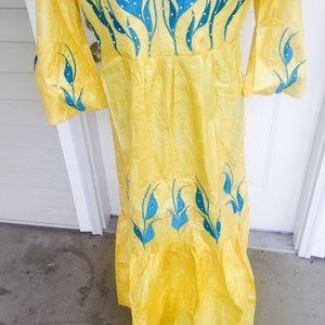 African Dress Bazin Chop Wax
