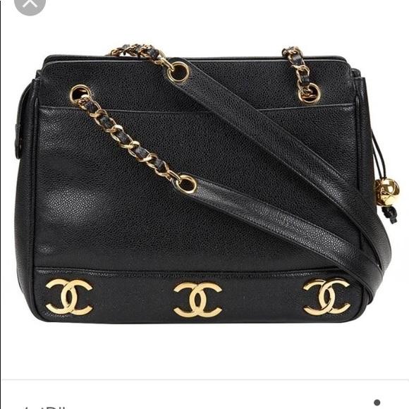 fdb3ccd18770 CHANEL Handbags - Authentic Chanel Black Caviar 6 CC Logo Tote