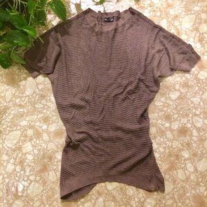 Express Sheer Net Short Sleeve Sweater Medium