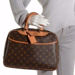 Authentic Louis Vuitton Hand Bag Deauville Browns