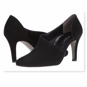 New PAUL GREEN Black Cut out Ankle Bootie Pumps