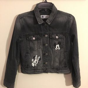 Gap Disney Mickey+Minnie Mouse Denim Jacket