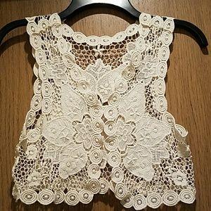 Lace Crochet Waist / Handmade